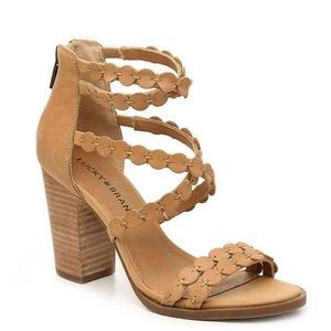 Like new with box Lucky Brand all-Lameer heels